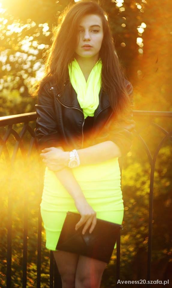 Eleganckie Spódniczka neon