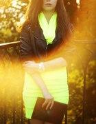 Spódniczka neon...