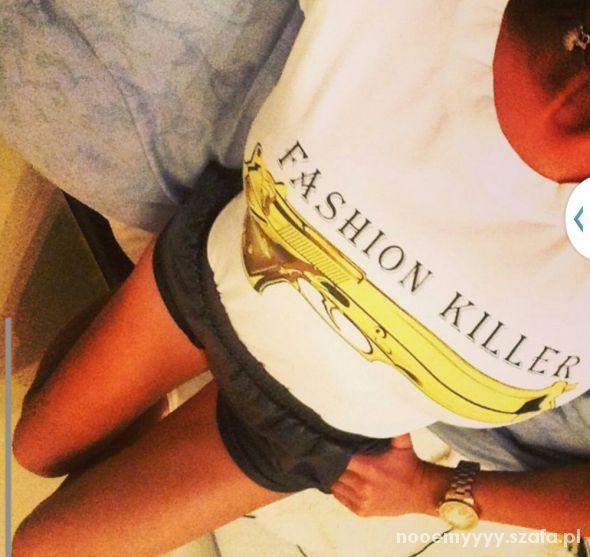 Ubrania Bluzka Koszulka pistolet broń fashion killer