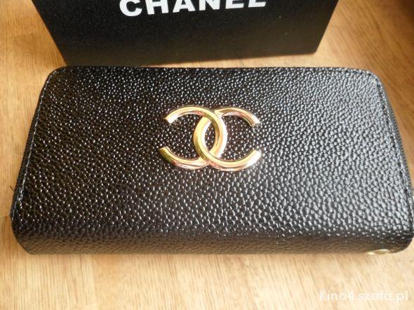 0965754b91b3b Nowy portfel a la Chanel kopertówka z paskiem w Portfele - Szafa.pl