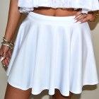 Biały komplet top spódnica look siwiec falbanka