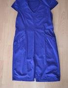 niebieska sukienka 44