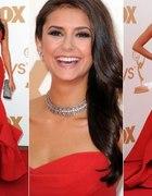 Piękna długa czerwona suknia