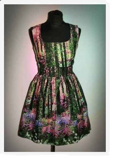 Sukienka Atmosphere z motywem lasu M lub L...