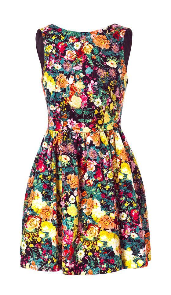 Sukienka ZARA kwiaty odkryte plecy