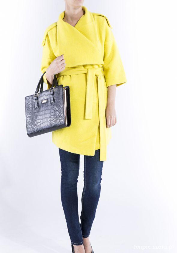 Odzież wierzchnia Żółtek Monnari płaszcz Już mój