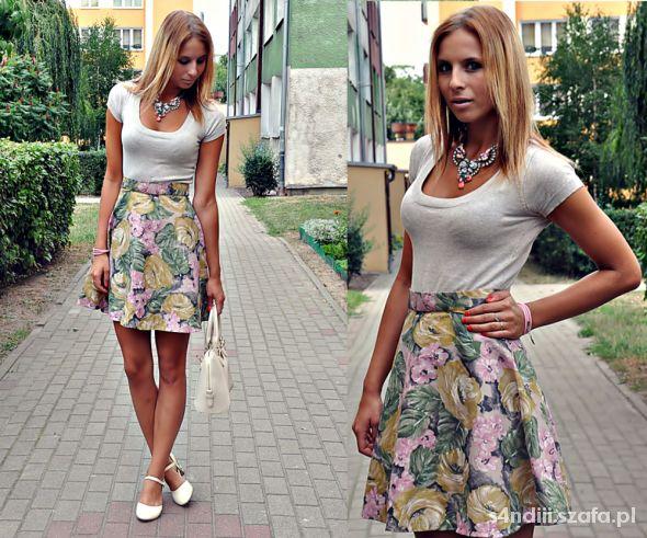 Blogerek floral diy skirt