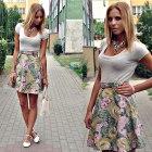 floral diy skirt
