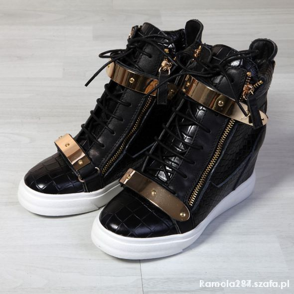Czarne sneakersy Giuseppe Zanotti...