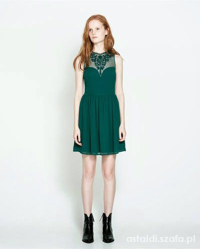 szukam zielonej sukienki ZARA