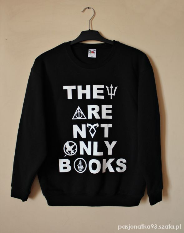 Bluzy Bluza They Are Not Only Books kolory S M L XL XXL