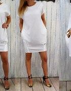 Dresowa sukienka tunika sportowa elegancka bombka