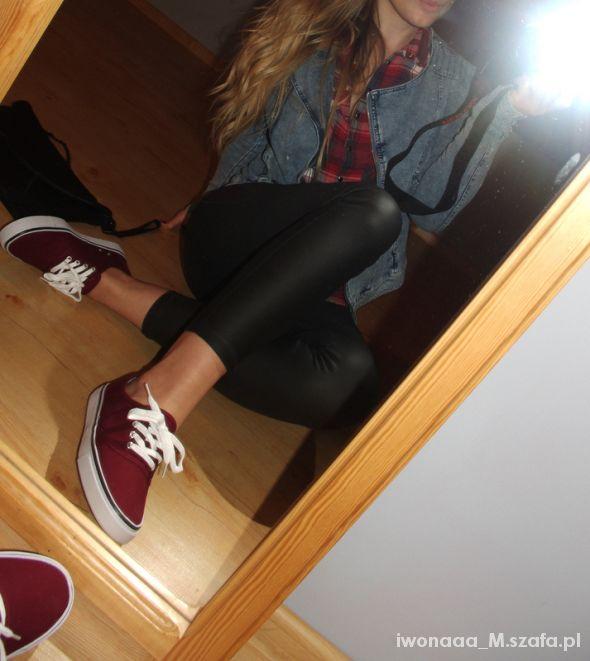 Mój styl Jeans Krata