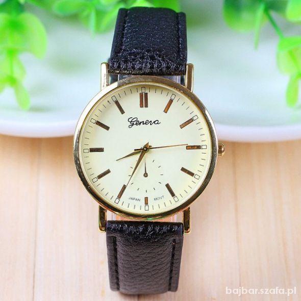 Zegarek geneva skórzany pasek klasyka