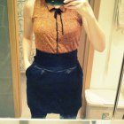 Gina Tricot czarny tulipan wysoki stan spódnica S
