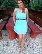 miętowa sukienka pajączek...