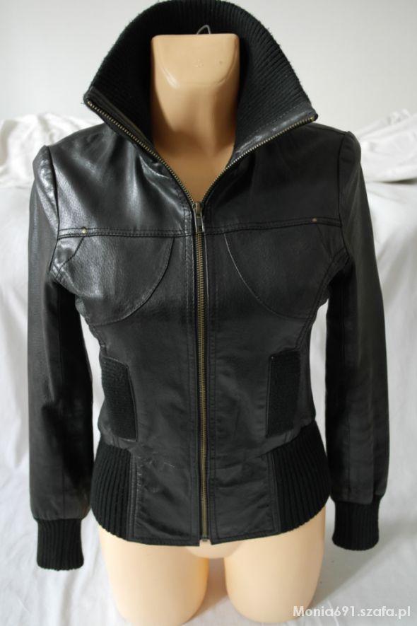 3663a9beae75b Vero Moda czarna kurtka skóra naturalna pilotka w Odzież wierzchnia ...
