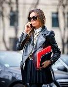 street style inspiracje jeansy skóra klasyki