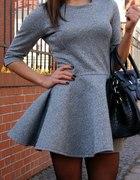 Sukienka szara Natalia Siwiec