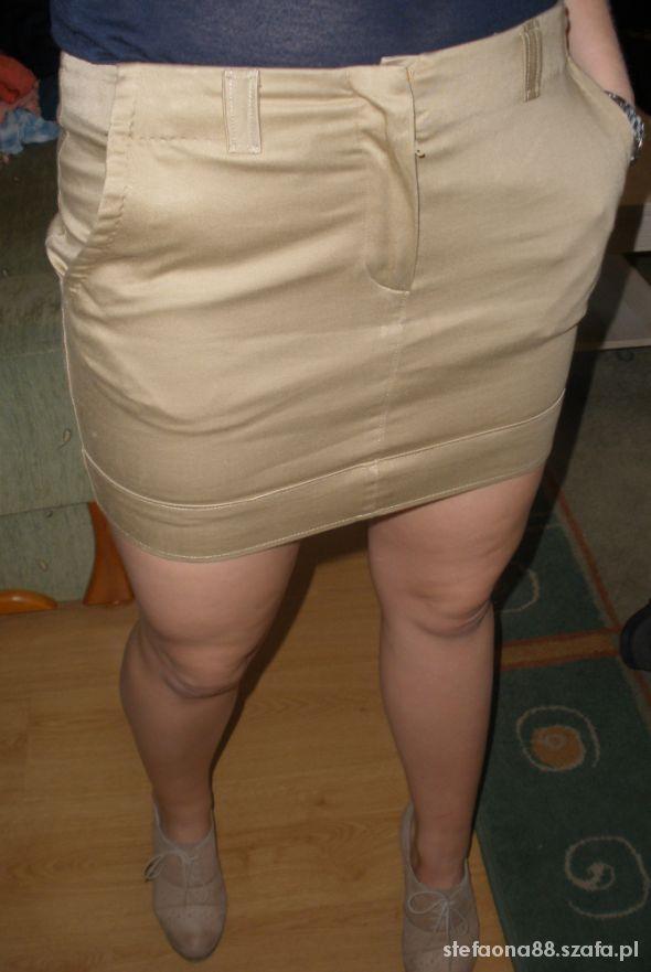 Spódnice Mini spódniczka carmelową oryginalna tanio