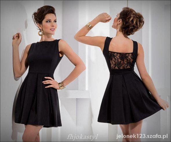 8cc43c8a4c62 MAŁA CZARNA rozkloszowana czarna sukienka M 38 40 w Suknie i .
