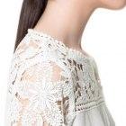 Bluzka koronkowa Zara haftowana 40 L