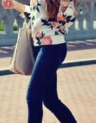 bluza sweterek kwiatki