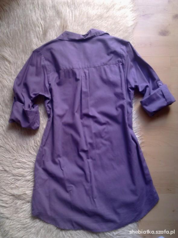 długa koszula fioletowa