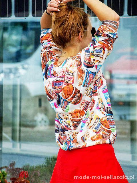 Bluzy Bluza 3D PRINT ben & jerrys SHEINSIDE