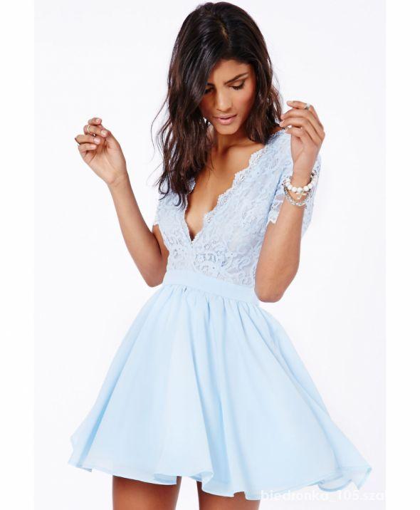 sukienka baby blue asos