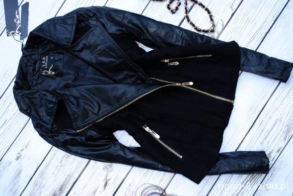 kurtka zlote zipy XL