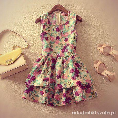 Eleganckie Kwiecista sukienka