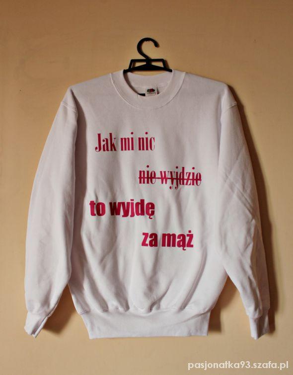c3d5b283a1 Bluza damska z napisem nadrukiem oversize obey w Bluzy - Szafa.pl