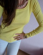ZARA żółty sweterek CUDNY