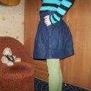 rozkloszowana jeansowa spódniczka