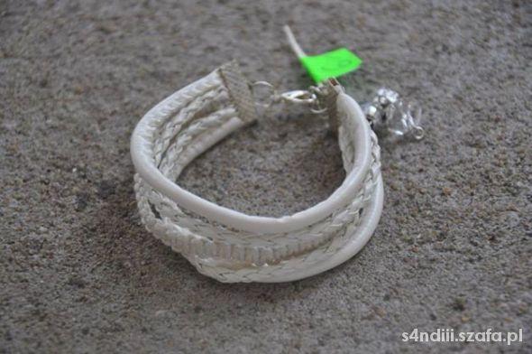 Biała bransoletka elegancka