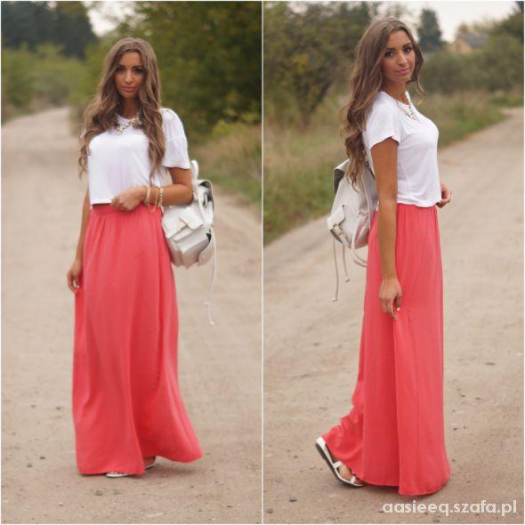 Blogerek Coral Maxi Skirt