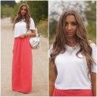 Coral Maxi Skirt