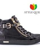 HIT Sneakersy Botki Trampki Y404 BLACK