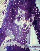Skóra ramoneska wolf ćwieki