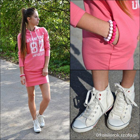 Blogerek Sportowa sukienka dresowa