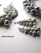 szara duża biżuteria duże perły