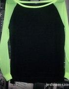 Bluza neonowe rękawy mgiełka