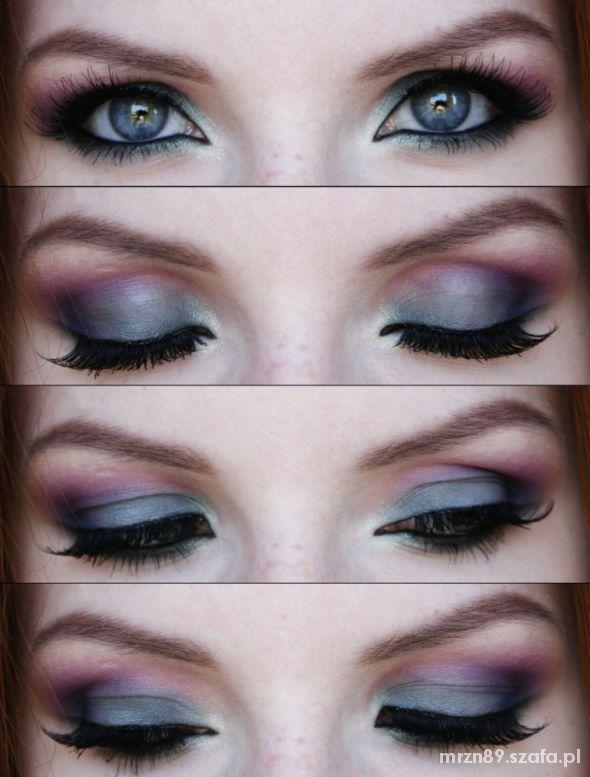Fryzury jesienny makijaż