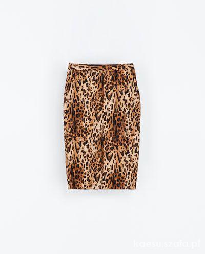 Spódnice ZARA ołówkowa spódnica panterka