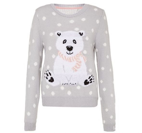Ubrania Sweter jumper NEW LOOK miś polarny polar bear