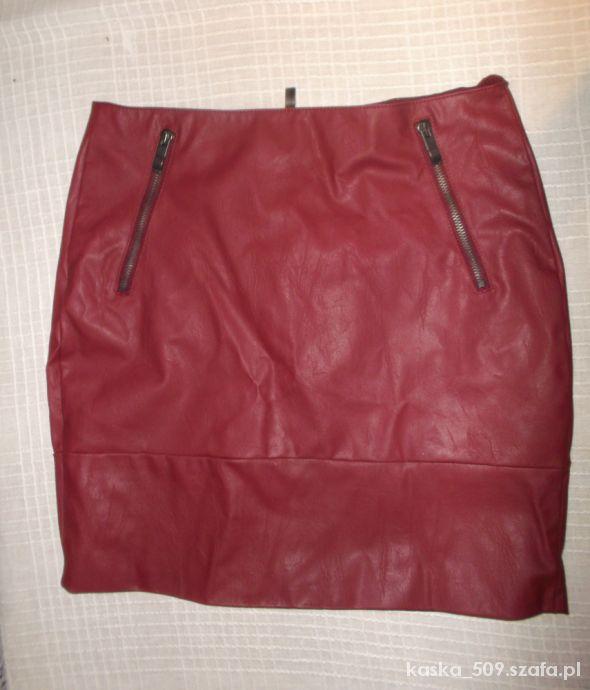 Spódnice spódniczka orsay duże 36 38 bordowa