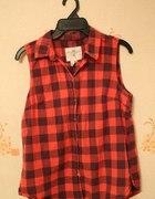 Koszula w czarno czerwoną kratke rozmiar S