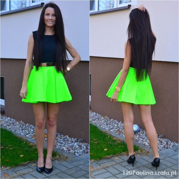Blogerek neon skirt