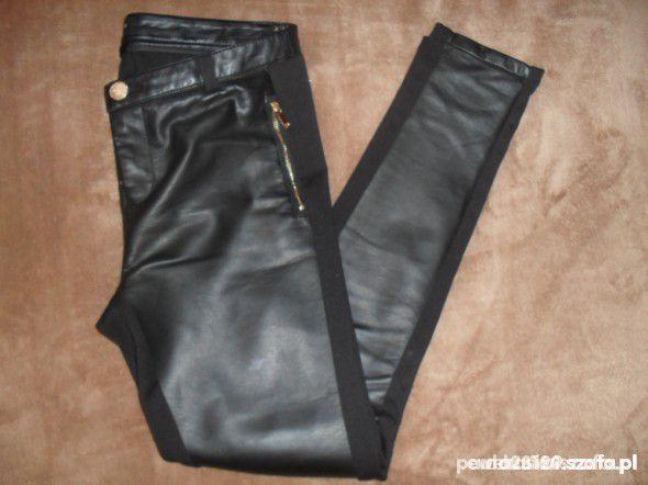 spodnie leginsy skórzane reserved eleganckie...